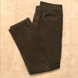 Brooks Brothers Dark Green Five Pocket Cord Pants